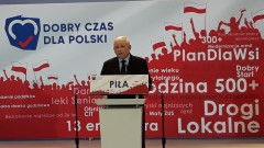 Jarosław Kaczyński w Pile: Najważniejsze wybory po 1989 roku